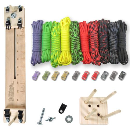 "Paracord Craft Kit w/ 10"" Pocket Pro Jig & Monkey Form Zombie"