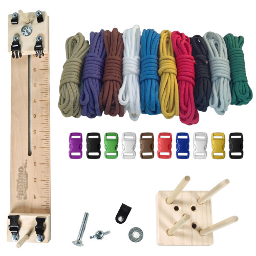 """Paracord Crafting Kit w/ 10"""" Pocket Pro Jig & Monkey Form Primary"""