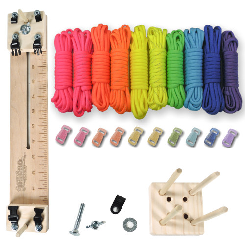 "Paracord Crafting Kit w/ 10"" Pocket Pro Jig & Monkey Form Pop"