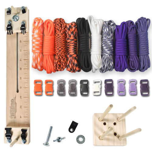 "Paracord Craft Kit w/ 10"" Pocket Pro Jig & Monkey Form Witch"