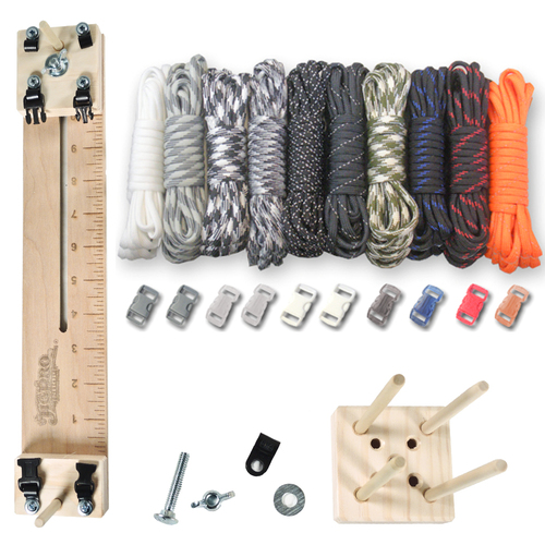 "Paracord Craft Kit w/ 10"" Pocket Pro Jig & Monkey Form Tactical"