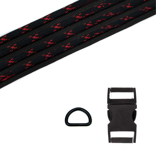 Dog Collar Kit - Black w/Imperial Red X Imperial Red