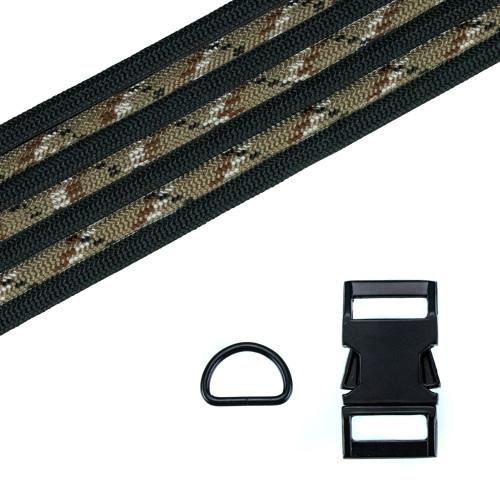 Dog Collar Kit - Desert Camo/Black