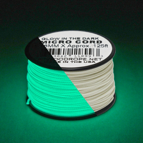 Glow in the Dark Micro Cord - 125 Feet