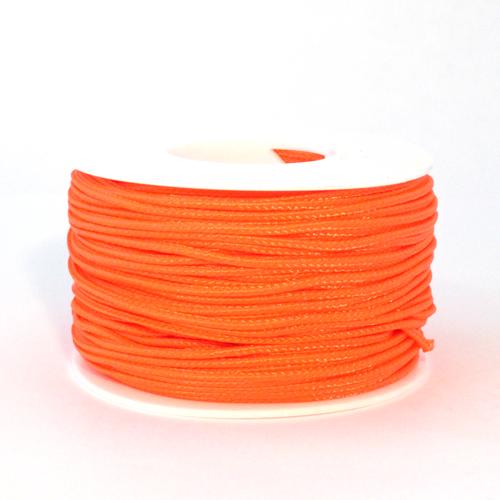 Neon Orange Micro Cord - 125 Feet