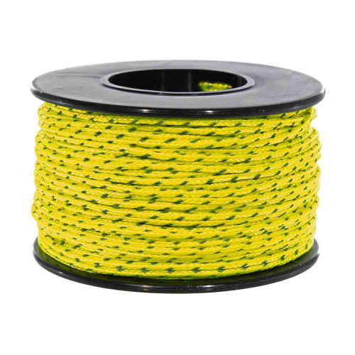 Neon Yellow Micro Cord with Reflective Tracers - 125 Feet