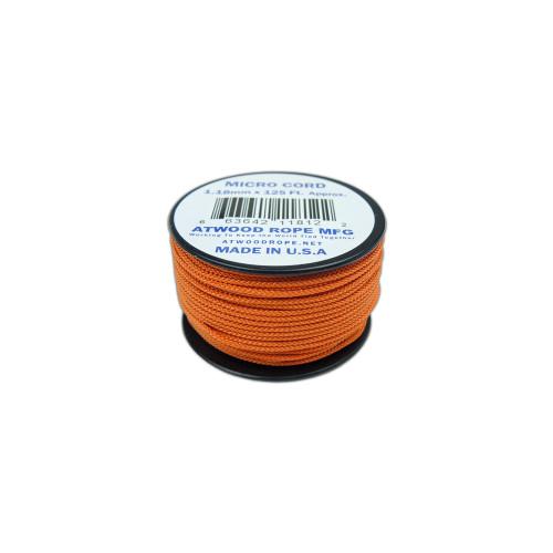 Burnt Orange Micro Cord - 125 Feet