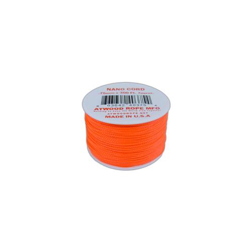 Neon Orange Nano Cord - 300 Feet