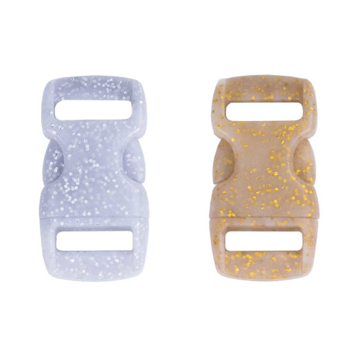 Contoured Side Release Buckles 3/8in - Glitter