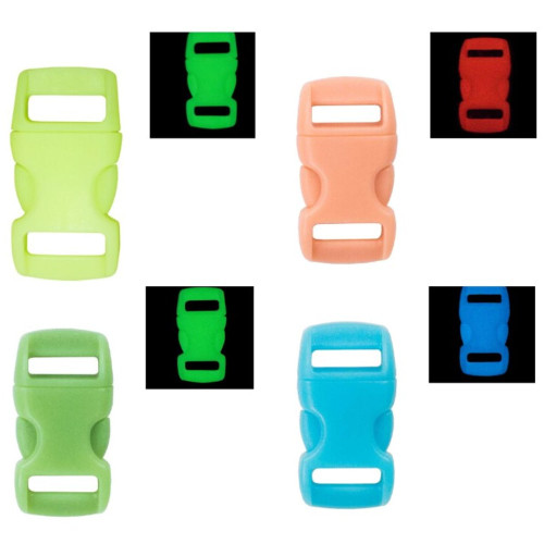 3/8 Inch Buckle - Glow in the Dark Colors