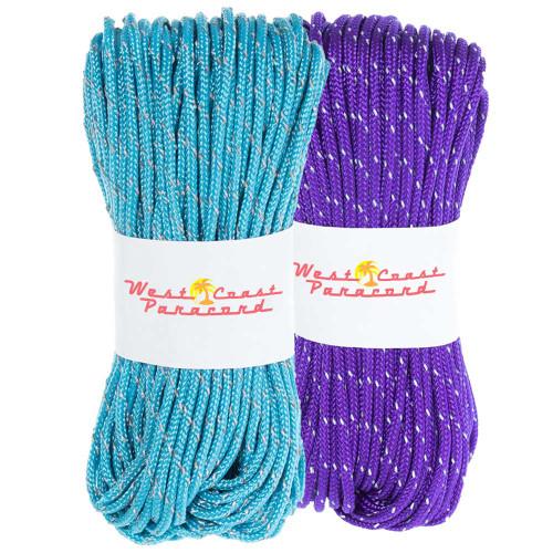 Acid Purple and Neon Turquoise 95 Reflective Cord