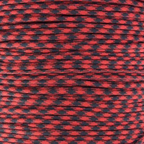 Imperial Red and Black - 550 Paracord - 100ft