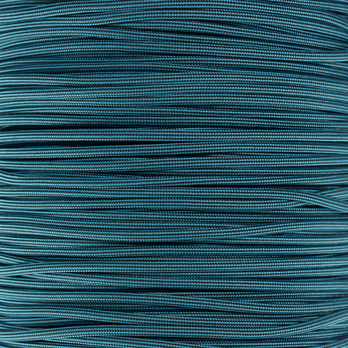 Neon Turquoise and Black Stripes - 550 Paracord - 100ft