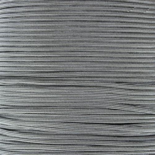 White w/ Olive Drab Stripes - 550 Paracord - 100ft