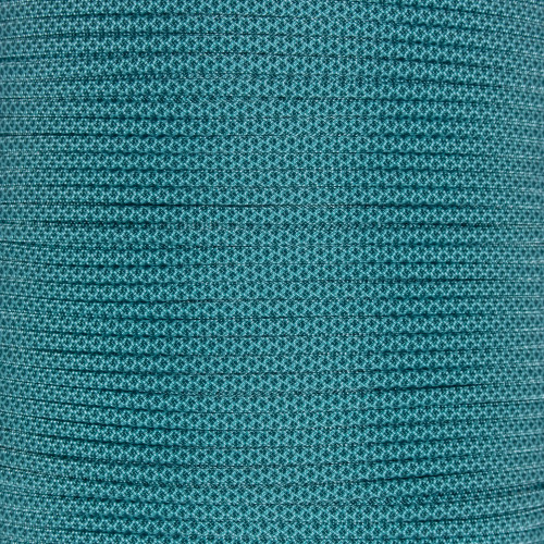 Turquoise w/ Teal Diamonds - 550 Paracord