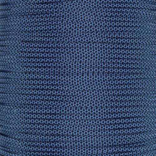 Baby Blue w/ Midnight Blue Diamonds  - 550 Paracord - 100ft