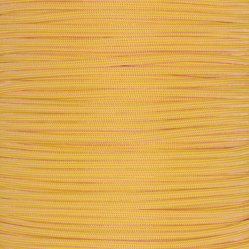 Rose Pink and Canary Stripes  - 550 Paracord - 100ft