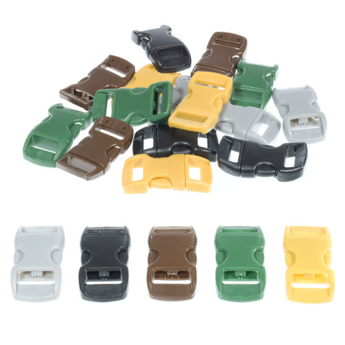 """Earth Colored 3/8"""" Buckles - 20 Pack"""