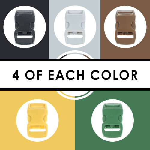"""Earth 3/8"""" Buckles - 20 Pack"""