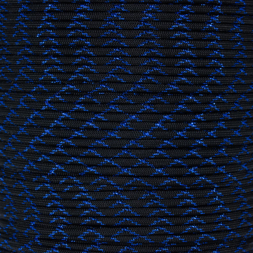 Blue Knight - 550 Paracord with Metallic Tracers