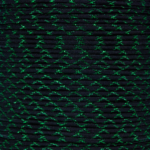 Green Knight - 550 Paracord with Metallic Tracers