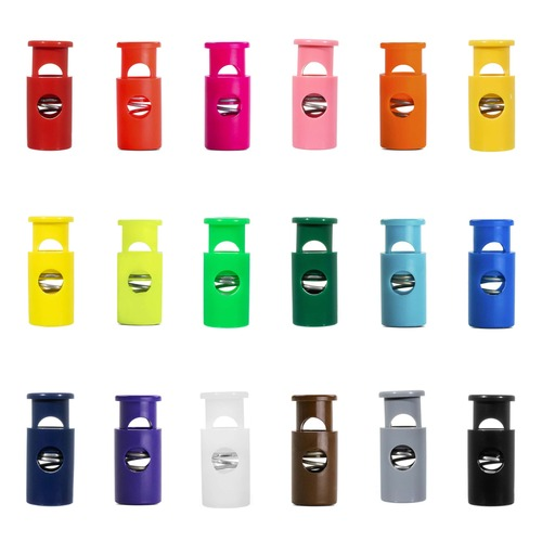 Cylinder Hole-Top Cord Locks - Multiple Colors