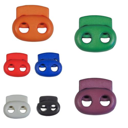 2-Hole Bean Cord Locks - Multiple Colors