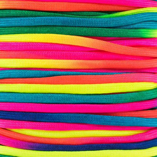 Neon Rainbow - 550 Paracord - 100 Feet