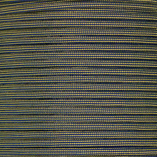 Gold and Midnight Blue Stripes - 550 Paracord - 100 Feet