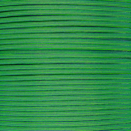 Neon Green and Purple Stripes - 550 Paracord - 100 Feet