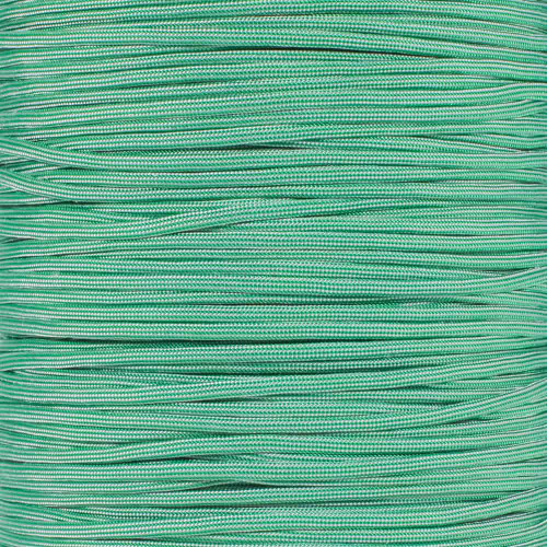Kelly Green w/ Silver Stripes - 550 Paracord - 100 Feet