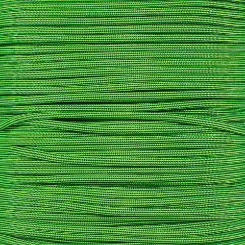 Neon Green and Black Stripes - 550 Paracord - 100 Feet