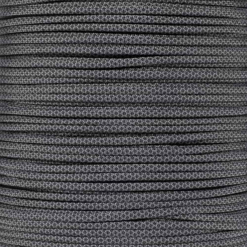 Charcoal with Black Diamonds - 550 Paracord - 100 Feet