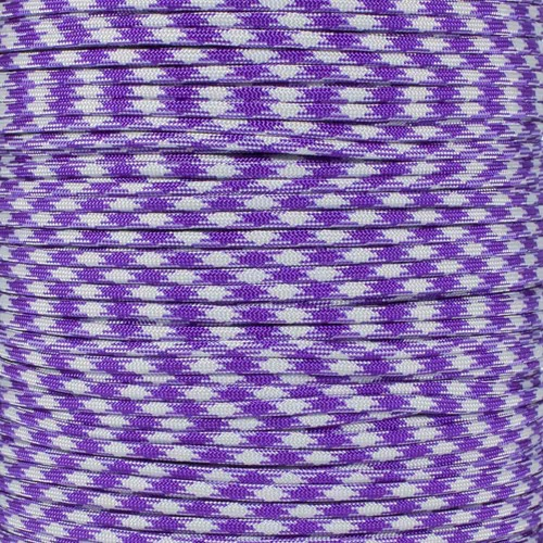 Acid Purple Silver Gray 50-50 - 550 Paracord - 100 Feet