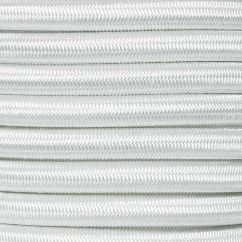 1/2 inch Shock Cord - White