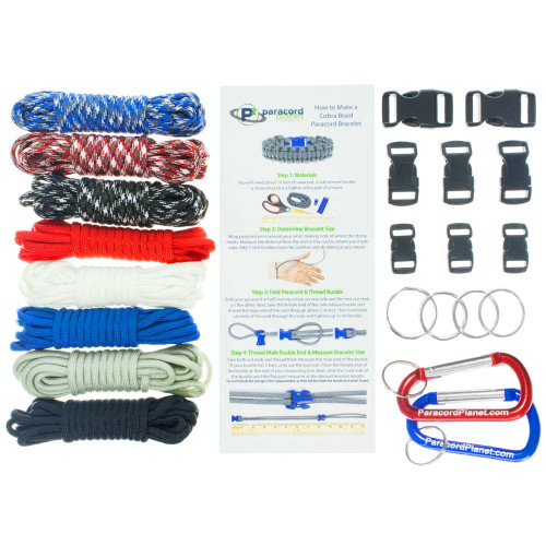 Patriotic - Combo Kit (Paracord & Buckles)