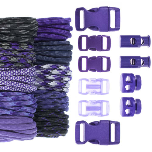 Amethyst - Combo Kit (Paracord & Buckles)