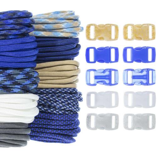 Lapis Lazuli - Combo Kit (Paracord & Buckles)