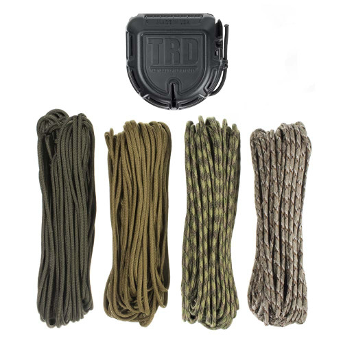 Tactical Rope Dispenser with 200' of Paracord - Military