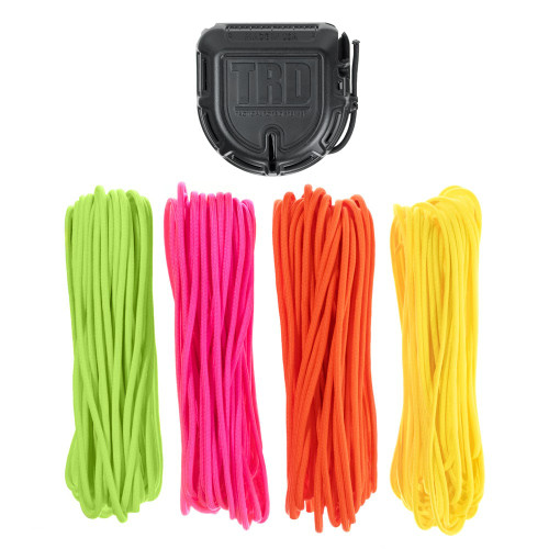 Tactical Rope Dispenser with 200' of Paracord - Neon