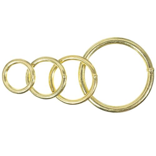 Welded Brass Plated Steel O Rings