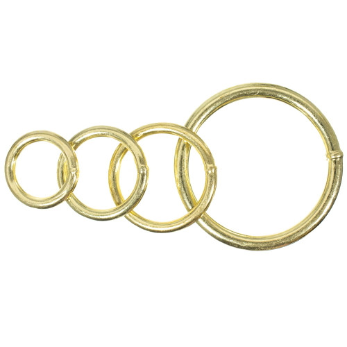 Welded Brass Plated Steel O Rings