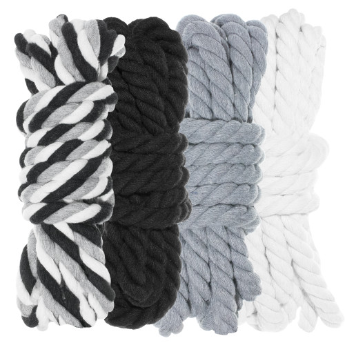 """1/4"""" Twisted Cotton Rope Kit - Grayscale"""
