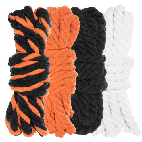 "1/4"" Twisted Cotton Rope Kit - Jack O'Lantern"