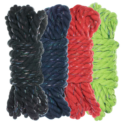 """1/4"""" Twisted Cotton Rope Kit - Dazzle - 40'"""