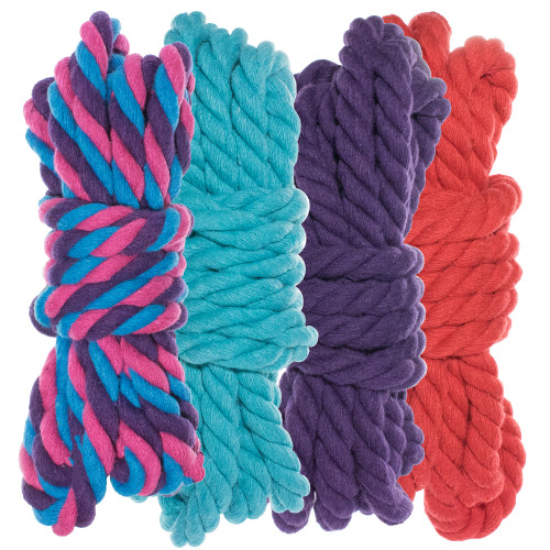 "1/4"" Twisted Cotton Rope Kit - Flora - 40'"