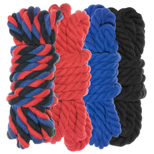 """1/4"""" Twisted Cotton Rope Kit - Imperial - 40'"""