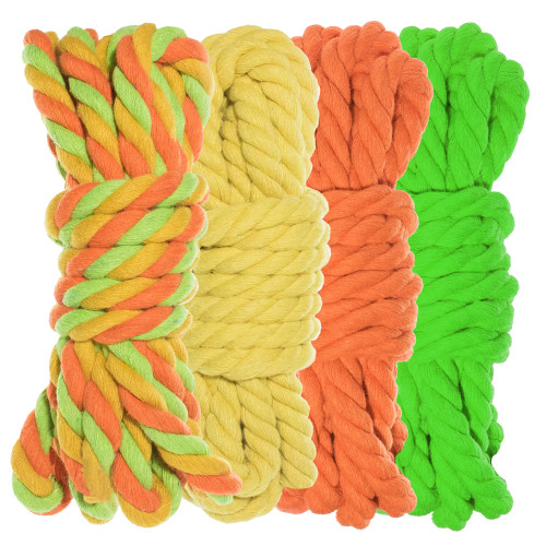 """1/4"""" Twisted Cotton Rope Kit - Sour Patch - 40'"""