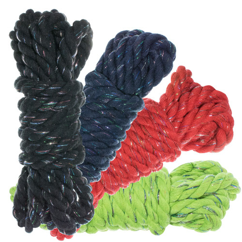 """1/2"""" Twisted Cotton Rope 100' Kit - Dazzle"""