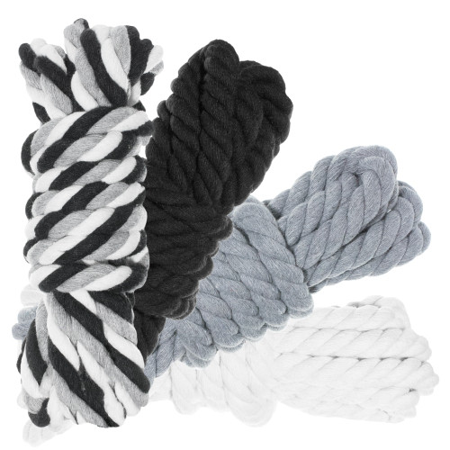 "1/2"" Twisted Cotton Rope 100' Kit - Grayscale"